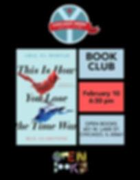 Chicago Nerd Social Club Book Club Flyer