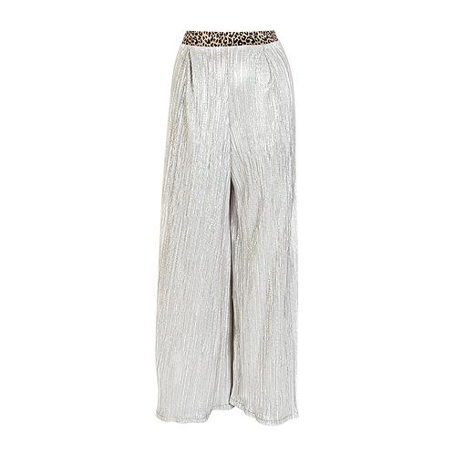 Silver flowy pants