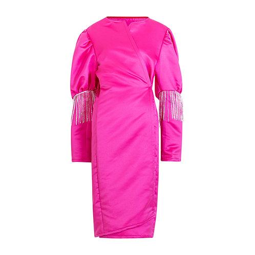 Fuchsia pink statement coat