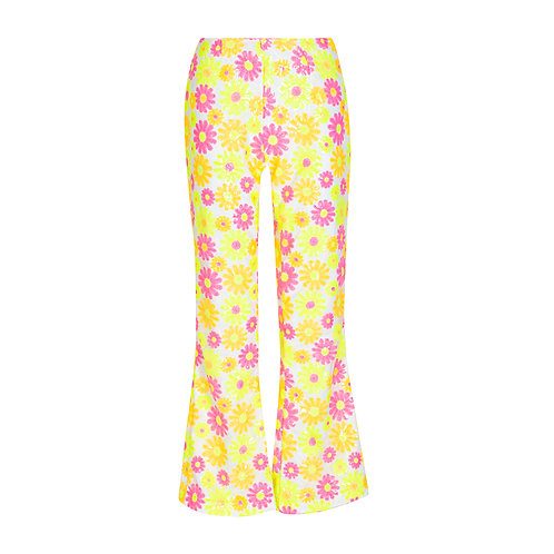 Flare daisy pants - pink/yellow