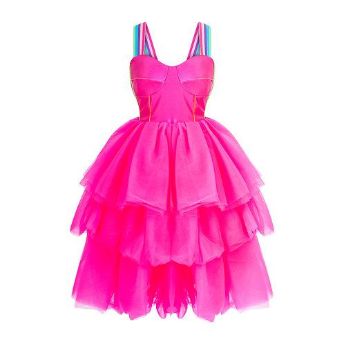Pink bustier dress