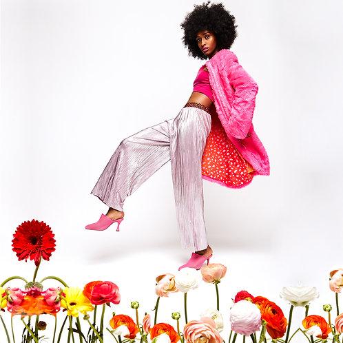 coat and pink pants
