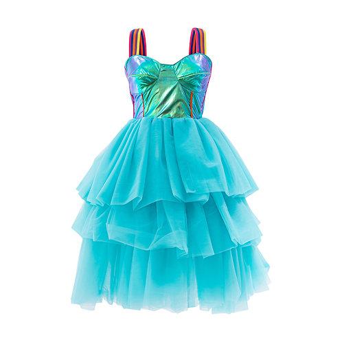 Blue bustier dress