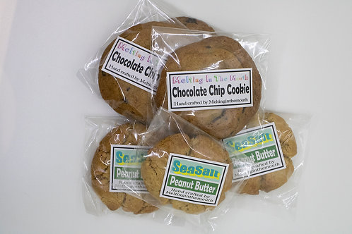 チョコチップクッキー&ピーナツバタークッキー6枚セット