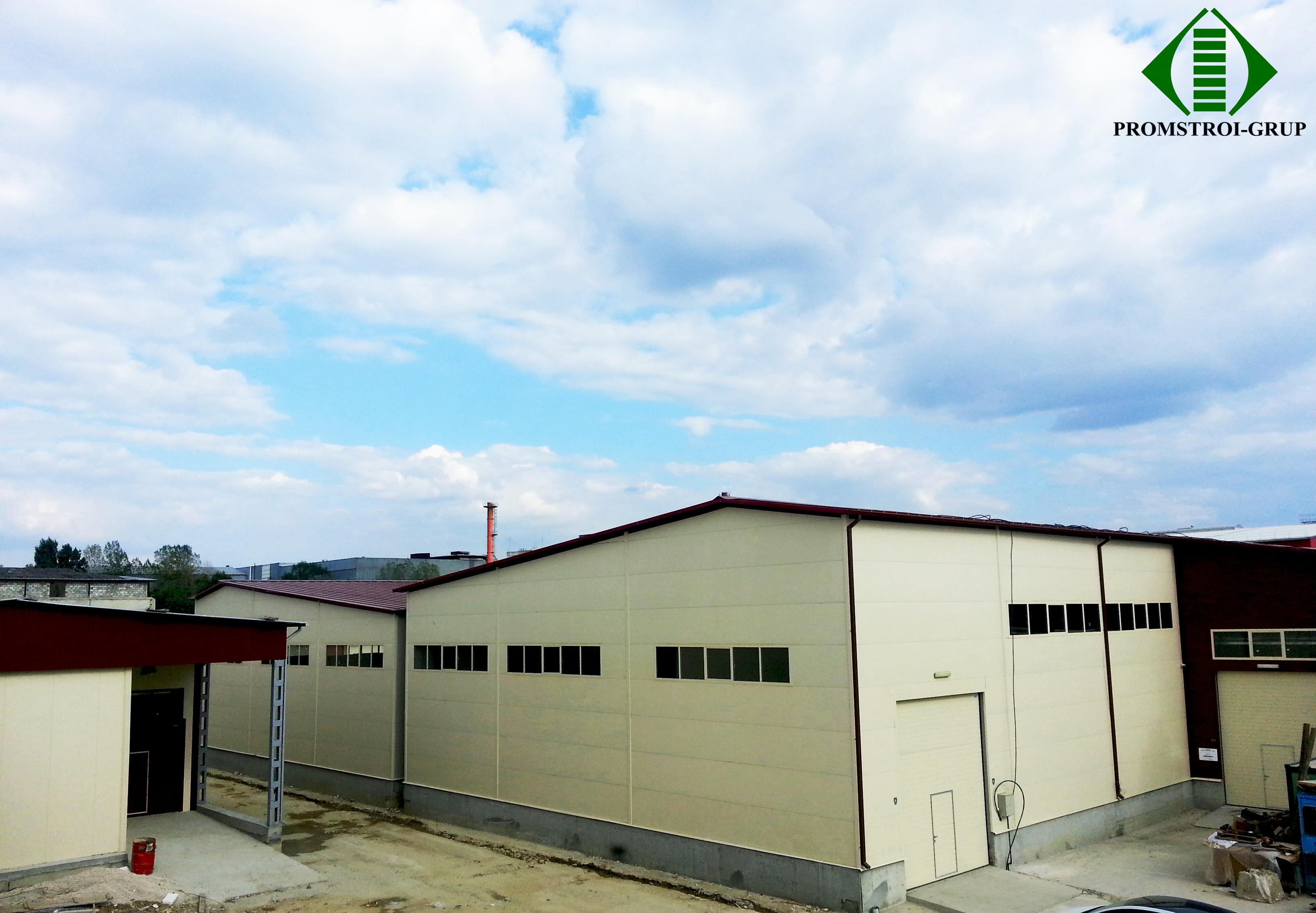 Складской центр по ул. Индустриальная 59. Проектирование, строительство, сдача в
