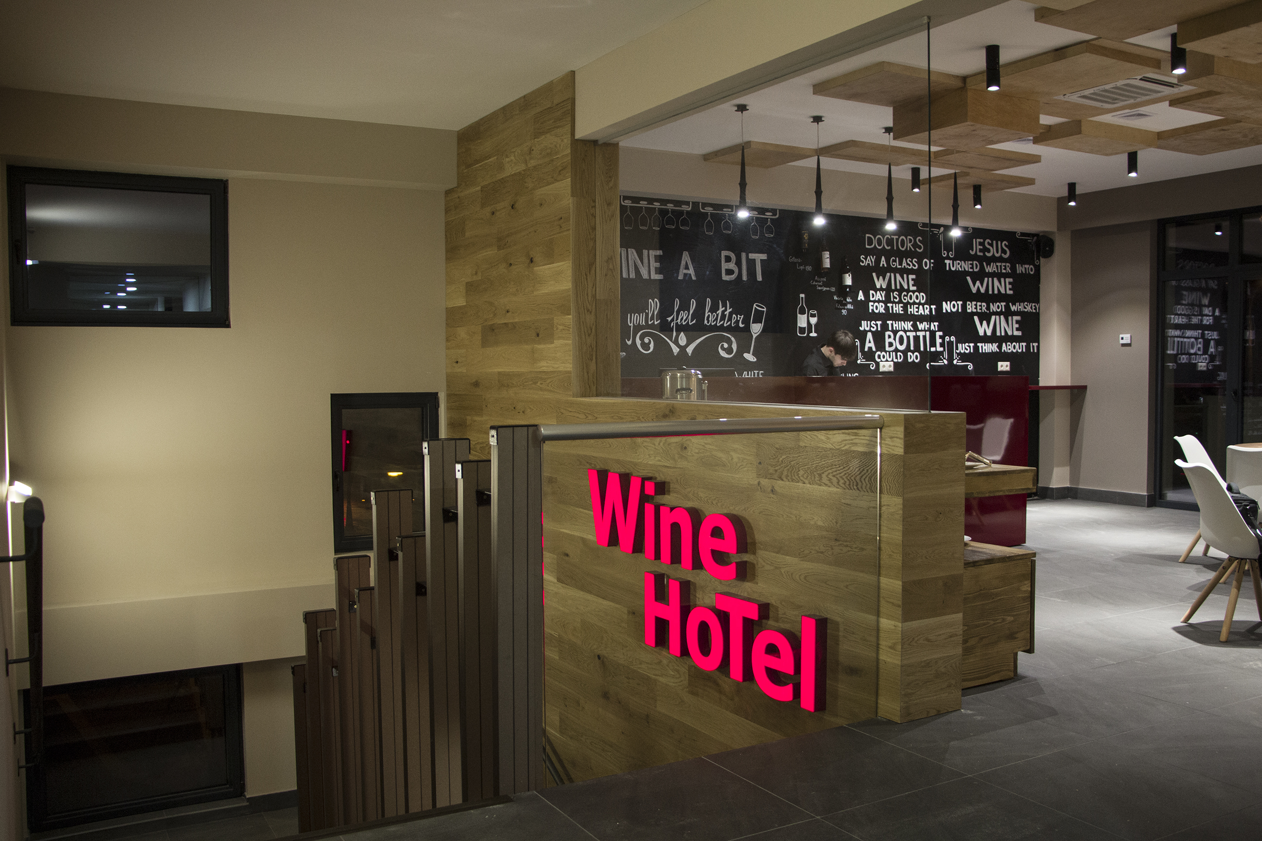 Entrance in Wine Hotel Chisinau