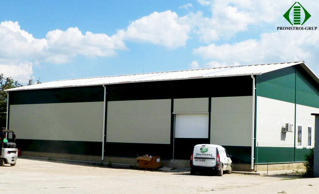 Первый склад компании Politrans по ул. Узинелор, Кишинев Проект и строительно-мо