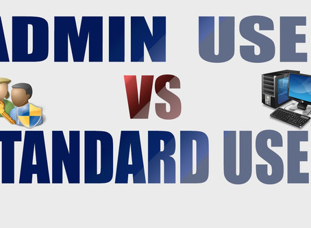 Which user are you?? Admin user or standard user
