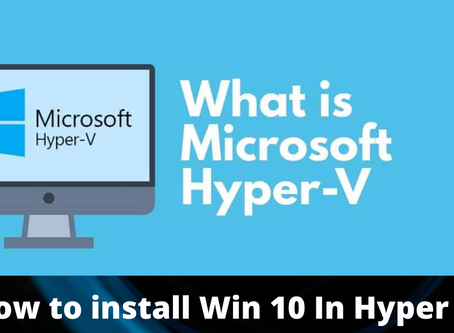 What is hyper V & How To install (active) Hyper V??