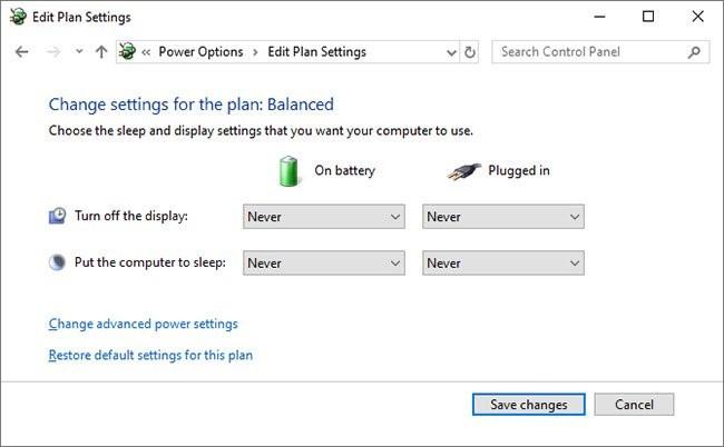 Optimize Power Plan settings