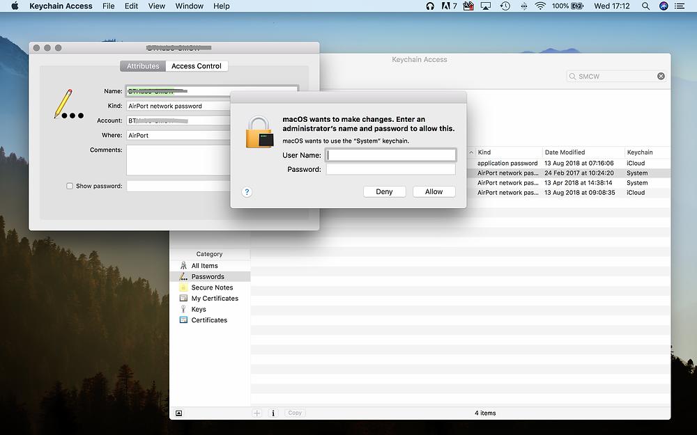 wi-fi password on Mac