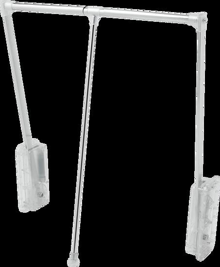 Cabideiro Extensível Cromado Translúcido, 60 a 83cm, 18Kg Reval 1083A