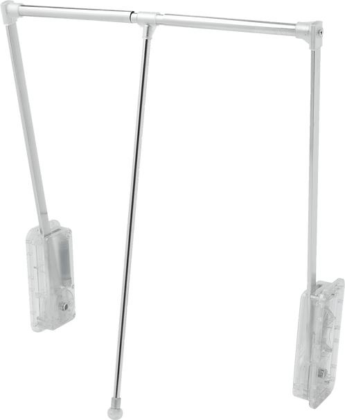Cabideiro Extensível Cromado Translúcido, 83 a 115cm, 18Kg - Reval 1083