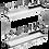 Thumbnail: Porta Latas Duplo Cromado com Bandeja Inox, Fixação na Base 3804/ZN 3806/ZN