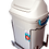 Thumbnail: Lixeira Única 19 Litros, Deslizante de Embutir c/ Corrediça Reval 7053