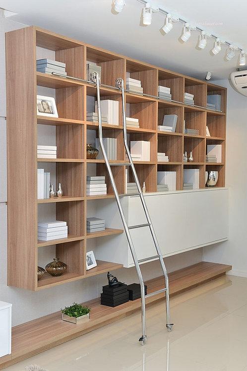 Escada Deslizante Regulável 2,0 a 2,2 m para Biblioteca 53-SC Reval
