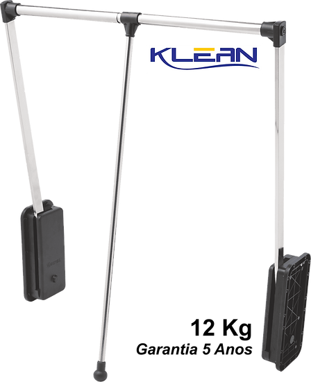 Cabideiro Extensível Cromado, 83 a 115cm, 12Kg - Linha Klean 1580/CR