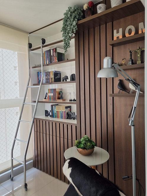 Escada Deslizante Regulável 2,5 a 2,7 m para Biblioteca 49-SC Reval