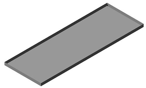Bandeja Inox 25 x 70 cm para Escorredor Reval Modelo 2000