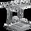 Thumbnail: Escorredor Suspenso Multiuso Cromado com Bandeja Inox Linha Aérea Cucina 1788