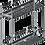 Thumbnail: Porta Latas Duplo Fixação Lateral Cromado Largura 157mm 1814
