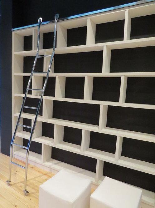 Escada Extensível Cromada para Biblioteca Reval 53-SC / 50-SC / 49-SC / 47-SC