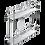 Thumbnail: Porta Latas Duplo CR com base laminada TS e Fixação Lateral 3810/TS