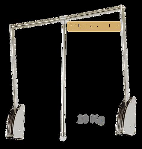 Cabideiro Extensível QUADDRUS c/ Fixação no Fundo 60 a 83cm, 20Kg STF/1081
