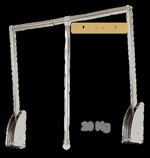 Cabideiro Extensível QUADDRUS em Aço Cromado 83 a 115cm, 20Kg ST/1080