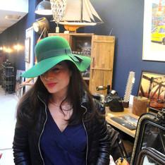 Coppélia bleu, Amsterdam et chapeaux vintage