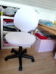 Housse de chaise de bureau,  faite maison et toute douce!
