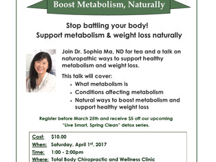 Boost Metabolism, Naturally!