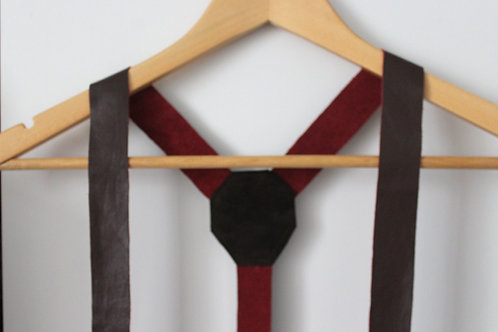Rust Chocolate Leather Suspenders
