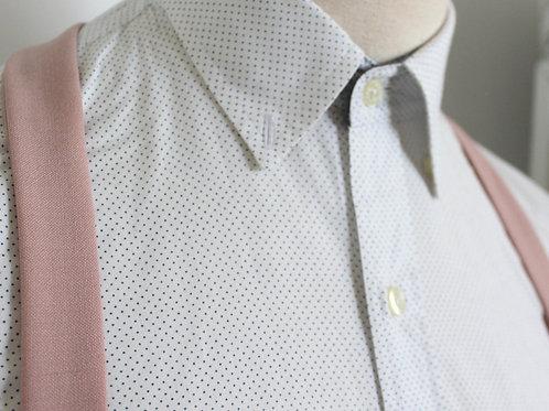 Pink Wool Linen Suspenders