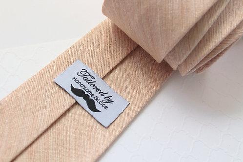 Light Blush Ultra Raw Silk Neck Tie