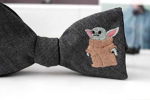 Baby Yoda Bowtie- Made to Order