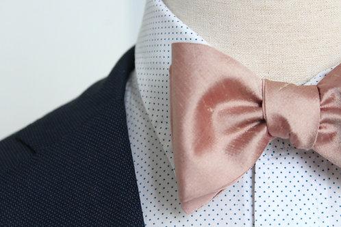Ros`e Blush Silk Bow Tie