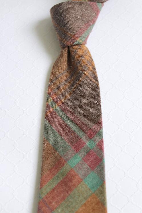 Plaid Flannel Cotton Neck Tie