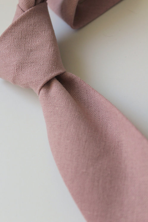 Misty Rose Linen Neck Tie