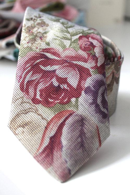 Floral Shimmer Vintage Neck Tie