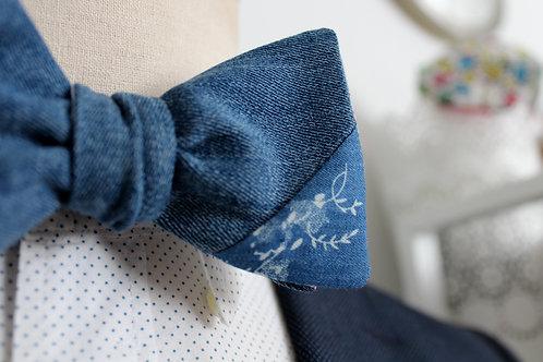 Upcycled Denim Bow Tie