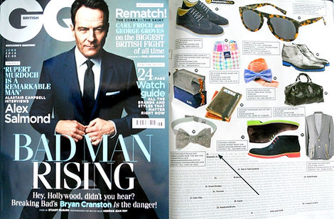 Handsome and Lace bow tie in GQ