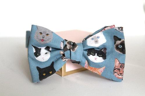 Cat Faces Bow Tie