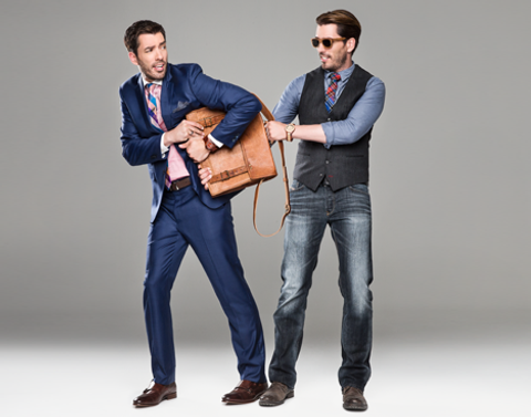 Property Brothers wearing handsome and lace neck Ties