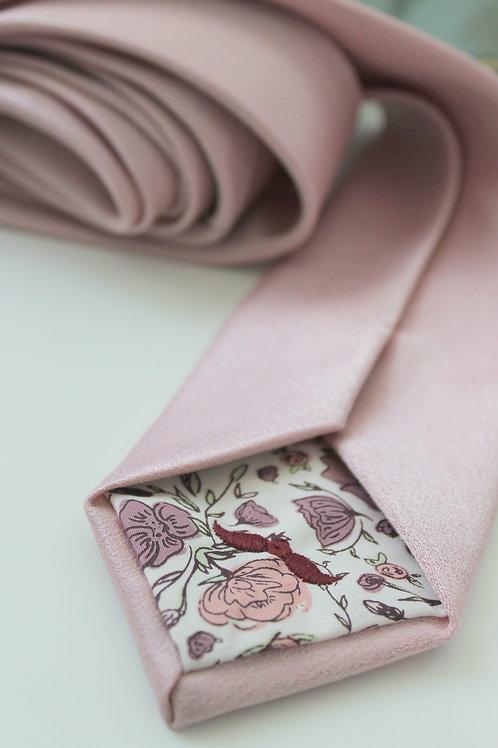 Cameo Pink Matte Satin Necktie