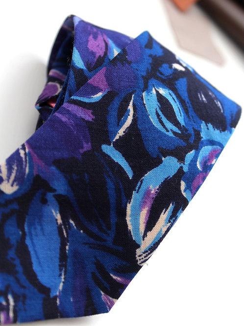 Necktie-Bold Floral Wool