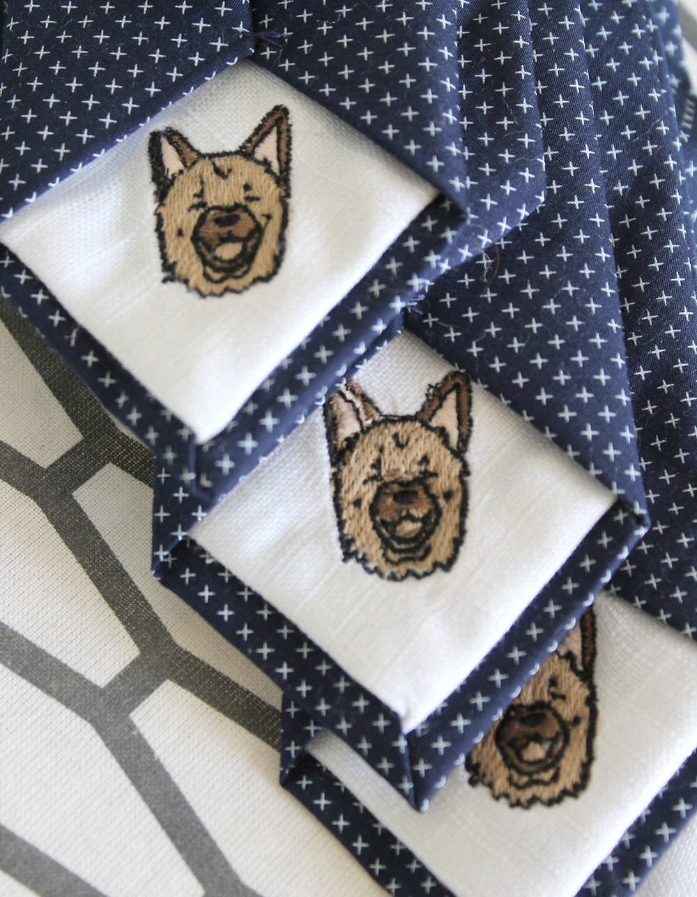 Turn your dogs face into art-Handsome&lace Custom Neckties and Bow ties