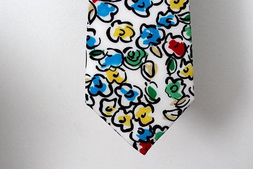 Bold Floral Italian Silk NeckTie