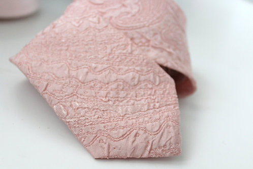 Blush Jacquard Neck Tie