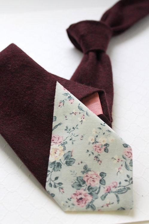 Floral Dipped Wool Necktie